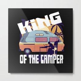 The Camping König Caravan Campsite Metal Print