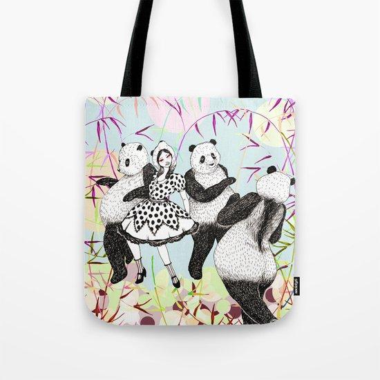 Panda Dance Tote Bag