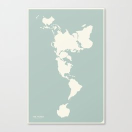 Dymaxion Map of the World Canvas Print