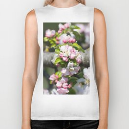 Blooming of the apple tree Biker Tank