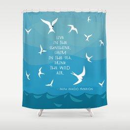The Wild Air Shower Curtain