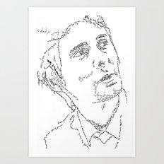 Matthew Bellamy WordsPortrait Art Print