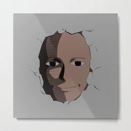 Saitama Face Metal Print
