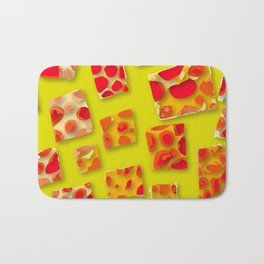 red spotted rectangles Bath Mat