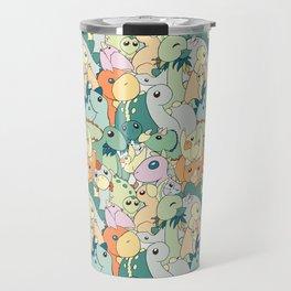 Cute Dino Pattern Travel Mug