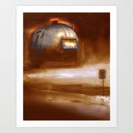 Post Apocalyptic Airstream 0 Art Print