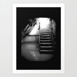 Murky Waters. Muddy Staircase. Art Print