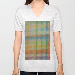 Colorful Plaid Unisex V-Neck