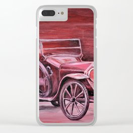 vintage car Clear iPhone Case