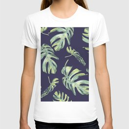 Monstera Pattern Blue #society6 T-shirt