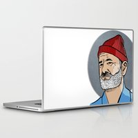 steve zissou Laptop & iPad Skins featuring Zissou by Max the Kid