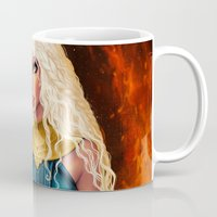mother of dragons Mugs featuring Mother of Dragons by Sonia MS
