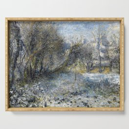 Auguste Renoir Snow-Covered Landscape Serving Tray