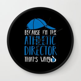 Sports Coach Athlete Director Gift Wall Clock