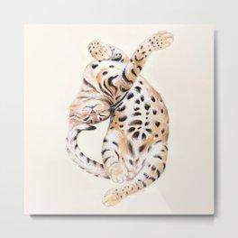 Cute Stretching Bengal Kitten Metal Print