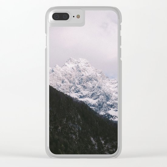 Contrast Mountains Clear iPhone Case