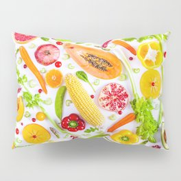 Fruits and vegetables pattern (31) Pillow Sham