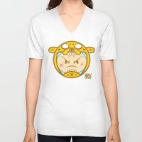 finn and jake V-neck T-shirts featuring Jake & Finn  by Miguel Manrique