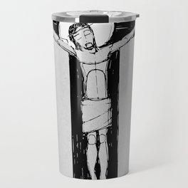 Jesus Christ at the Cross illustratio Travel Mug