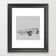 DeLorean DMC-12 Framed Art Print