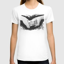 camera in hand T-shirt