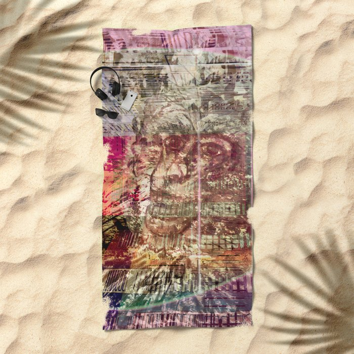 Atlante 17-06-16 / TIME MACHINE Beach Towel