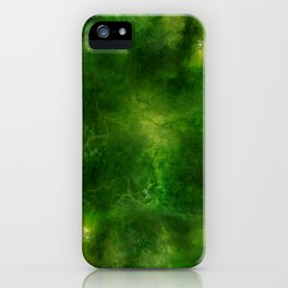 Green Crystal Marble Painting iPhone Case