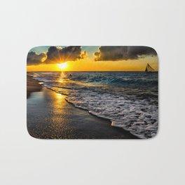 Puka Beach Sunset Bath Mat