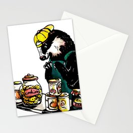 Naughty Badger Stationery Cards
