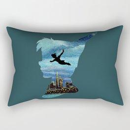 Peter Pan Over London Rectangular Pillow