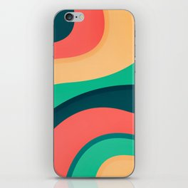 The river, abstract painting iPhone Skin