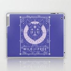 Wild & Free Wolf – Periwinkle Laptop & iPad Skin