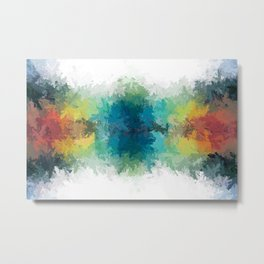 Throwing Color Metal Print