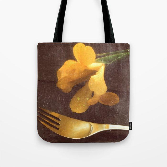 Flowers on Slate, variation 3 Tote Bag