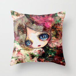 Creature in Bloom Throw Pillow