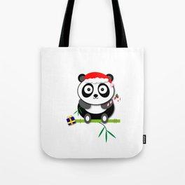 Holiday Panda Tote Bag