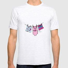 Swimsuit Clothesline Cartoon T-shirt