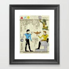 Hero-glyphics: Prime Directive Framed Art Print