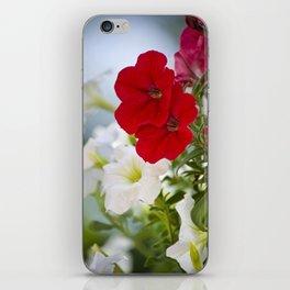 Antique Petunia Flowers iPhone Skin
