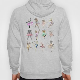 Animal Square Dance Hipster Ballerinas Hoodie