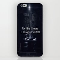 fnaf iPhone & iPod Skins featuring Five Nights At Freddy's by Taylor J Wyatt
