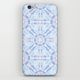 Baroque style blue pattern. Christmas motif. iPhone Skin