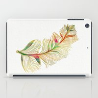 feather iPad Cases featuring Feather by Klara Acel