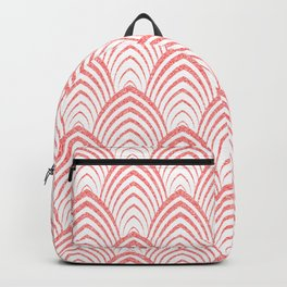 Pink & White Art-deco Pattern Backpack