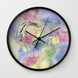 We Share One Heart Wall Clock