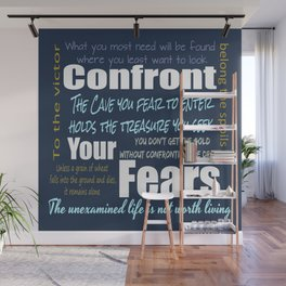 Confront Your Fear Wall Mural