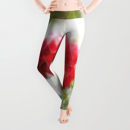 Red Rose with Light 1 Art Triangles 2 Leggings