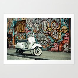 Vespa Chariot Art Print
