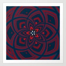Spiral Rose Pattern C 1/4 Art Print
