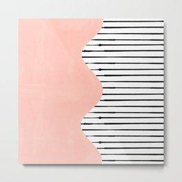 wave lines (pink) Metal Print